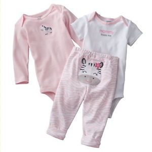 Preemie Newborn Baby Girl Clothes Outfit Shirts Pants Onesies Carter's Zebra