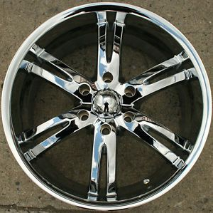 Akuza Dominion 701 20 x 9 0 Chrome Rims Wheels Frontier 97 04 6H 10