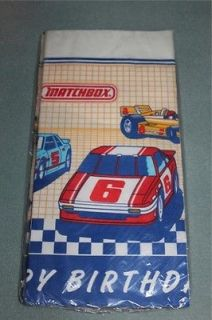 Matchbox Cars Happy Birthday Paper Tablecloth 1988 New