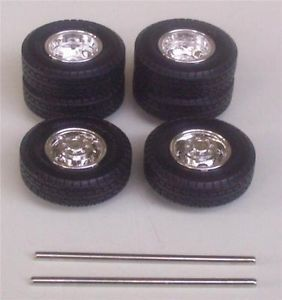 BF Goodrich Tires n Dually Wheels Chevy Truck 3500 Pickup 125 Parts AMT PJA1
