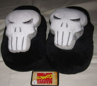 Punisher Big Logo Plush Slippers Officially Licensed Marvel Comics Kids 4 5
