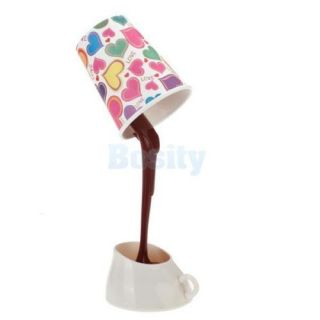 Creative DIY LED Coffee Cup Lamp Light Energy Saving Home Decoration Table Lamp
