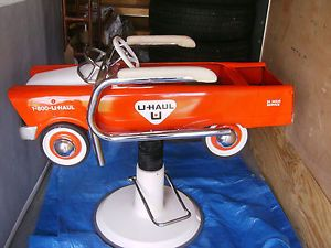Vintage U Haul Pedal Car Childs Barber Chair Totally Refurbished Please Read