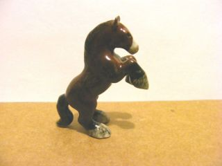 Klima Mini Clydesdale Rearing Black Feathering Miniature Animal Figurine Horse