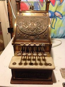 1903 Antique Copper Ox Brass National Cash Register Model 5 NCR Candy Store
