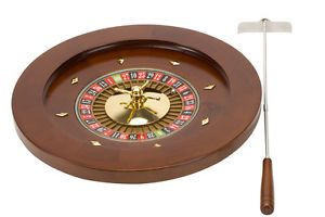 Wholesale Deluxe Wooden Wood Roulette Set Casino Game Professional 18""
