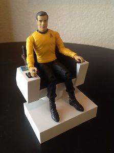 Star Trek Kirk Figure w Command Chair Diamond Art Asylum Loose Non Electronic