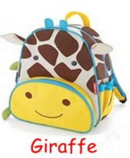 Cartoon Animals Lovely Giraffe Style Kids Toddlers Baby School Bag Backpack