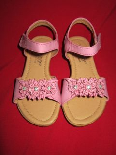 "Baby Toddler Pink Sandals US Shoe Size 4 8 ""Via Pinky"""