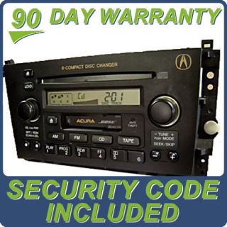 01 02 03 Acura CL Radio Stereo 6 Disc Changer CD Tape Cassette Player 3PK0