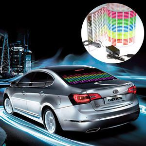 90x25cm Sound Music Activated Colourful Car Sticker Equalizer LED Flash Light