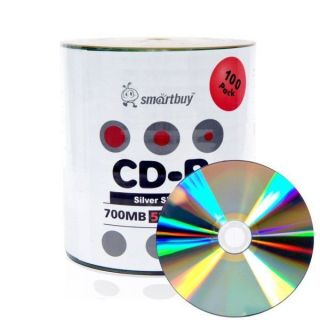 100 Smartbuy CD R 52x Blank Recordable Disc Burner CD Pro 700MB 80min CDR New