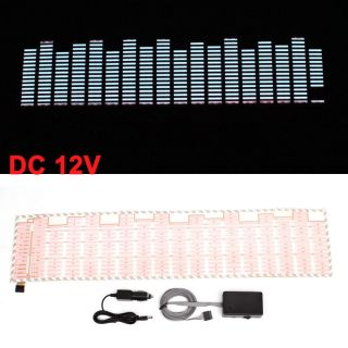 70cm x 16cm Music Rhythm LED Flash Light Sound Activated Equalizer for Car