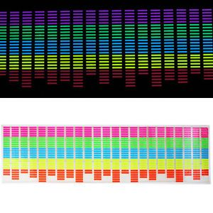 90 25cm Sound Music Activated Colourful Car Sticker Equalizer LED Flash Light
