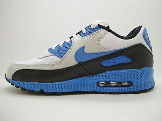 325018 144 Mens Nike Air Max 90 White Varsity Blue Natural Grey
