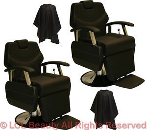 2 x Classic Professional Hydraulic Reclining Barber Chair Beauty Salon Equipment