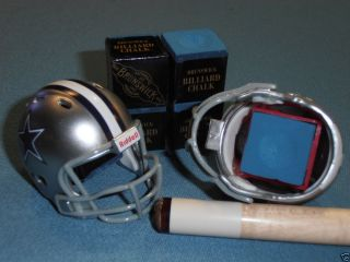Dallas Cowboys NFL Helmet Pool Cue Chalk Holder Lot of 2 Brunswick Chalk