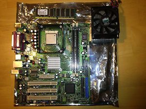Motherboard Processor Memory CPU Fan Heat Sink Combo 2 7GHz 512MB RAM