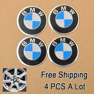 4X Set BMW Logo Car Accessories Auto Wheel Center Hub Cap Badge Emblem Sticker