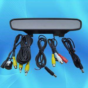 4 3'' TFT LCD Car Rear View Backup Parking Mirror Monitor Night Vision Camera