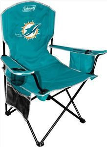 2013 Logo Miami Dolphins XL Big Boy Folding Cooler Chair Coleman Tailgate Seat
