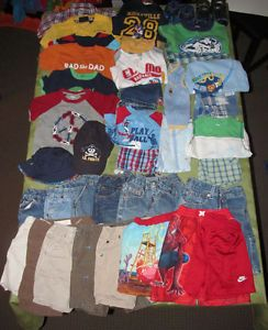 Boy Summer Clothing Lot 24M 2T Shirt Jean Short Gymboree Circo Levi Gap Old Navy