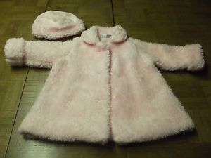 Cute Toddler Girl's Pink Dress Coat and Hat Size 18 Months