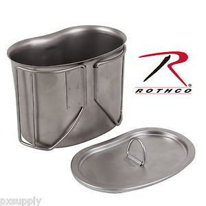 Canteen Cup Lid Stainless Steel Rothco 11512