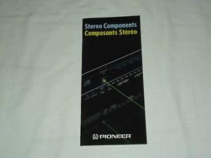 Pioneer Stereo Home Audio Components Original Catalog Brochure x RARE