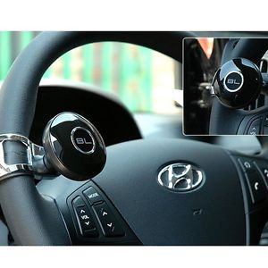 Black Label Car Power Steering Wheel Spinner Knob Handle Clamp Accessories