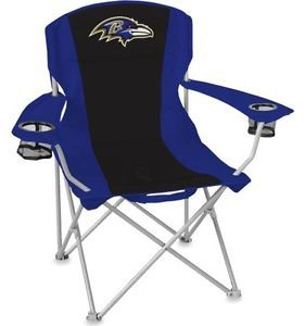 Two Baltimore Ravens XL Big Boy Folding Cooler Chair Coleman Tailgate Seat