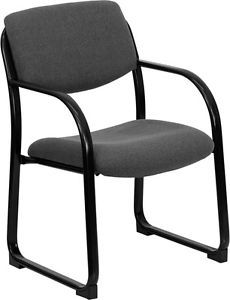 Heavy Duty Gray Color Fabric Reception Office Side Chair Waiting Room Chair
