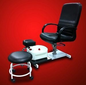 New Pedicure Station Chair Foot Spa Unit with Free Stool Beauty Salon Equipment