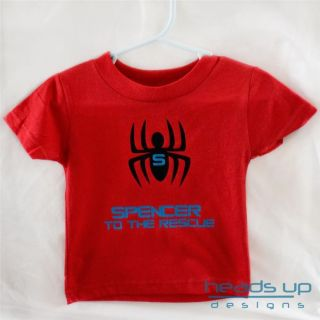 Spiderman Shirt Superhero Peronalized Spider Man Shirt Boy Girl Toddler Baby Kid