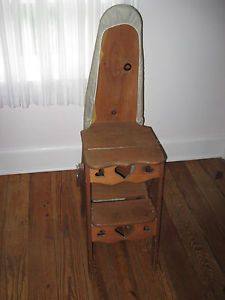 Beautiful Industrial Vintage Wood Ironing Board Chair Table Display Bench