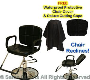 Hydraulic Reclining Barber Chair Shampoo Hair Styling Spa Salon Beauty Equipment