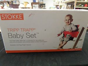 Stokke Tripp Trapp 2 Piece Baby Set for High Chair Blue New in Open Box