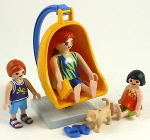 Beach Chair Swing with Lady City Life Summer House Family Figures Playmobil