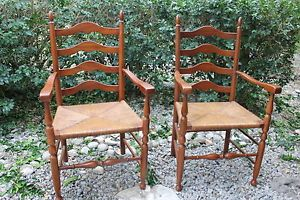 Henkel Harris Ladder Back Chairs in Wild Black Cherry Wood