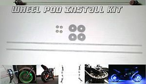 Custom Motorcycle Wheel Accent Light Glow Pod Install Kit LED Wheel A
