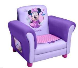 Children Kids Girls Purple Minnie Mouse Upholstered Chair New CLEARANCE