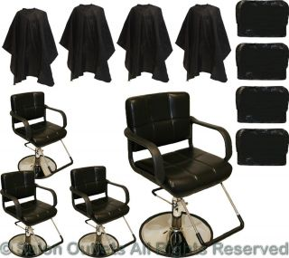 4 Black Hydraulic Professional Styling Barber Chair Hair Beauty Salon Equipment