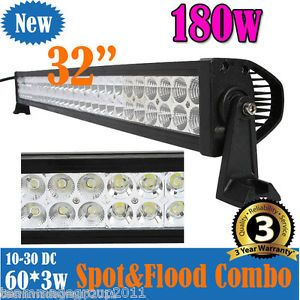 180W 13500LM 60' LED Work Light Bar for Off Road Jeep SUV Ute Mine Driving Lamp