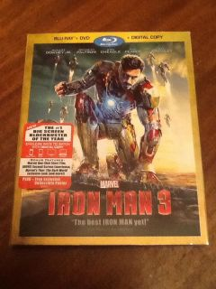 Iron Man 3 Blu Ray DVD 2013 2 Disc Set Includes Digital Copy 786936836431