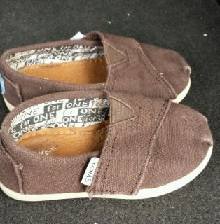 Toms Toddler T 6 Girl Boy Brown Shoe
