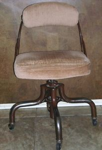 Vintage Metal Office Chair do More Industrial Machine Age Modernist Early 1950s