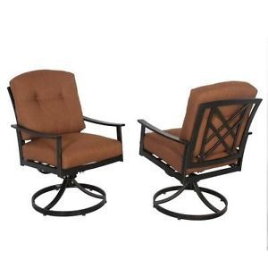 Hampton Bay Cedarvale Swivel Patio Dining Chairs