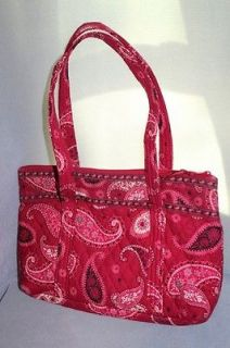 Vera Bradley Mesa Red Medium Tote Bag Purse