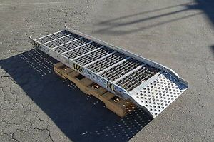 "Aluminum Truck Trailer Van ROM Ramp 88""x24"" Moving Handtruck Dolly Access"