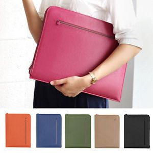 New A4 Size Briefcase Laptop Clutch Bag Document Holder Case Organizer Pockets